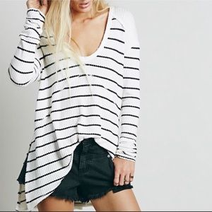 Free People | Striped Sweater Shirt